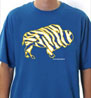 Crazy Buffalo Hockey Gold on Royal mens t-shirt