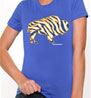 Crazy Buffalo hockey gold on royal ladies t-shirt I love buffalo