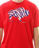 Crazy Buffalo football blue and red mens t-shirt